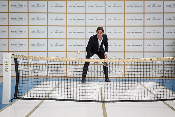 game, set, moet with roger federer