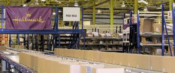 Hallmark picking warehouse
