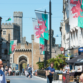 Photo of Cardiff towards Castle / Cooke & Arkwright