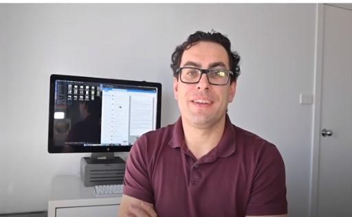 piotr tribecki in his office