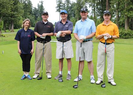 Goldcorp team and Special Olympics BC athlete Alexandra at the 2014 Goldcorp Invitational