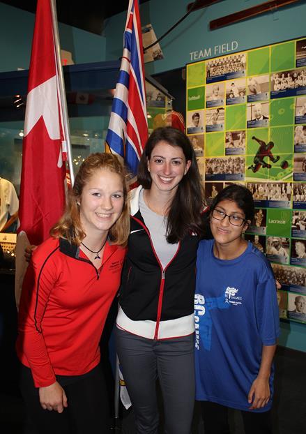 SOBC athletes Tamika and Suraya with Olympian Jessica Shaw