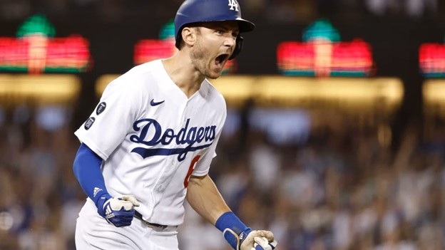 LA Dodger shouting