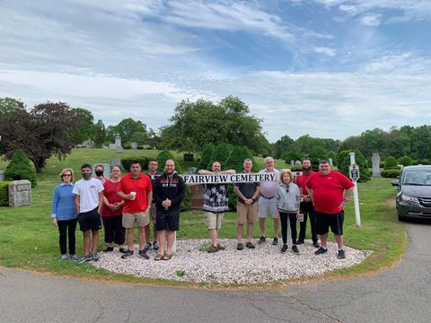 At RTC flag planting at Fairview Cemetery (from left): Nancy Grassilli, Gabriel Cortes, Shannon Daly, Eileen Daly, P.J. Louis, Mike Belanger, Anthony Mancini, Ted Mancini, Dennis Swanton, Bill Wilcox, Kaye Straw, Chad Thompson