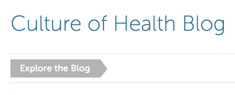 RWJF Culture of Health Blog