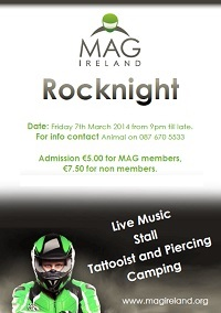 MAG Ireland Rocknight, 7th March 2014