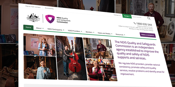 Image of the NDIS Commission website homepage.