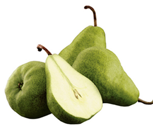 Green Bartlett pears
