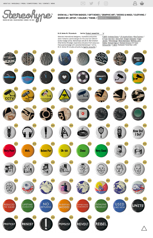 B.I.O. (By Invitation Only) Button Badge Series 18