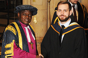 Daniel's graduation ceremony - Read his blog
