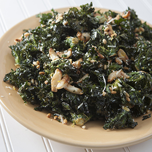 Roasted Kalettes with Garlic