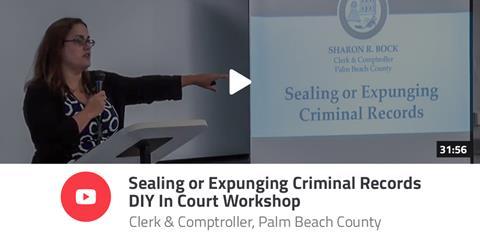 Photo of Clerk employee hosting Sealing or Expunging Criminal Records DIY in Court Workshop