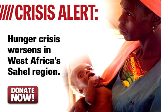 Crisis Alert: Hunger crisis worsens in West Africa's Sahel region. Donate Now