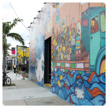 A Mural in the Wynwood Art District