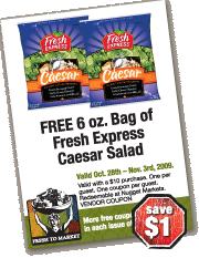 Free Cesar Salad Coupon