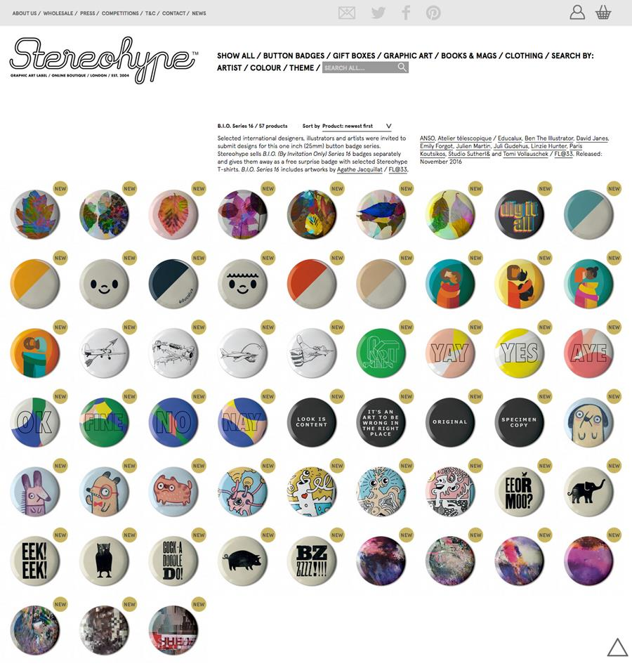 Out now: B.I.O. (By Invitation Only) Button Badge Series 16
