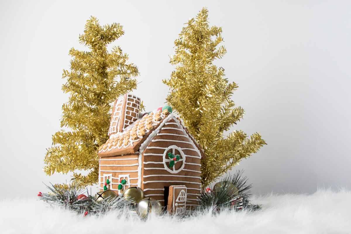 Scratch-made gingerbread house by Kara Chin
