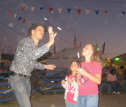 Roland Sarlot teaches magic to the next genertion