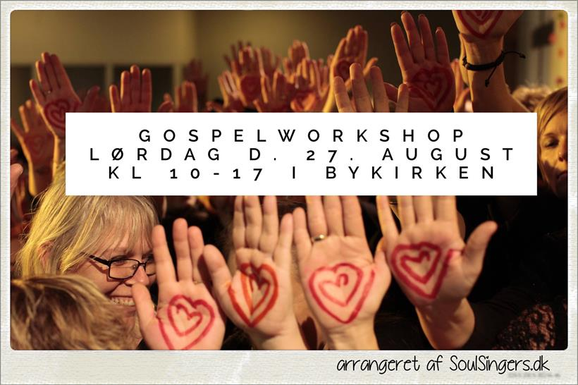 kom til gospelworkshop d. 27. august