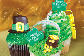 St. Patrick's Day cup cakes
