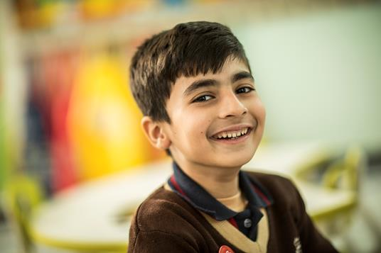 Young learner smiling