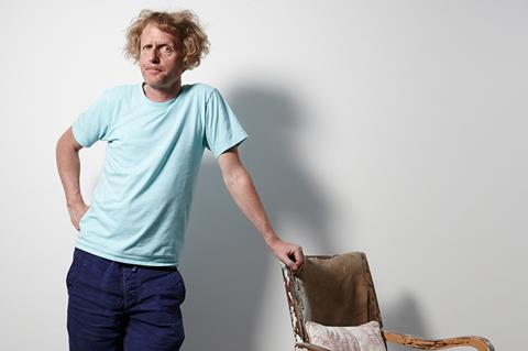 Grayson Perry with chair
