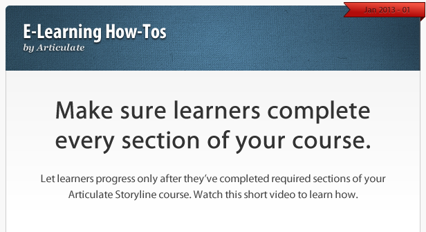 Make sure learners complete every section of your course.