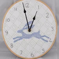 Kantha Hare Clock Kit by Angela Daymond