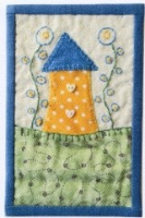 Little Country Cottage Minature quilt kit designed by Julia Gahagan