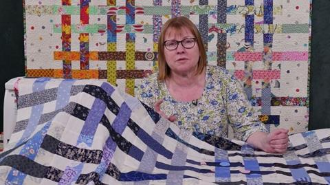 Woven Jelly Roll Scrap quilt with Carolyn Forster
