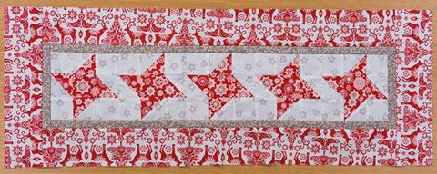 Christmas Table Runner from Valerie Nesbitt