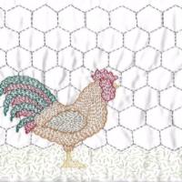 Cockerel Kantha Kit by Angela Daymond