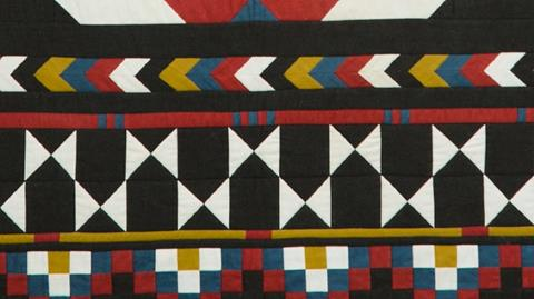 Navajo Blanket Quilt - Quarter Square Triangle units with Anne Baxter