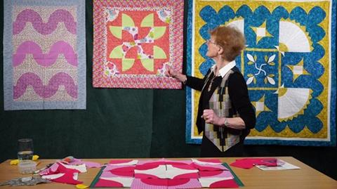 Drunkards Path quilt with Jennie Rayment