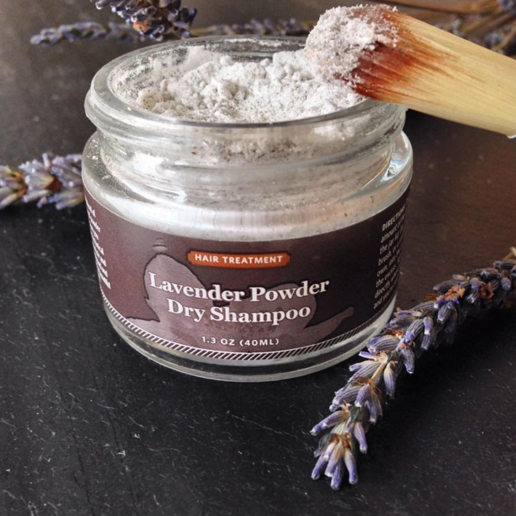 Qēt Botanicals lavender powder dry shampoo