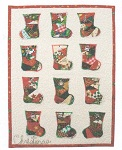 Crazy Stockings miniature quilt pattern by Julia Gahagan