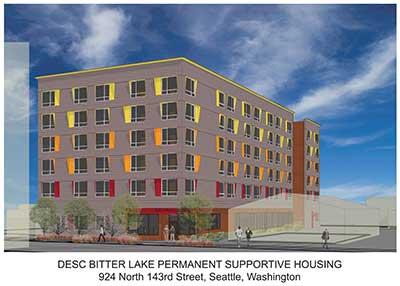 DESC Bitter Lake Permanent Supportive Housing 924 N. 143rd St. Seattle
