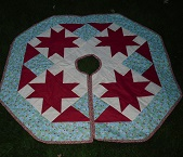 Christmas Tree Skirt (Modern) Kit designed by the Thangles company