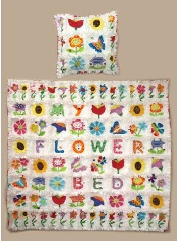 My Flower Bed raggy edge quilt pattern by Gail Penberthy
