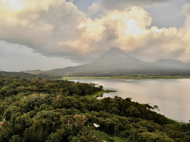 The active Arenal Volcano, in Costa Rica. Eruptions from large tropical volcanoes like this may affect global rainfall patterns, a new study finds. (Ernesto Tejedor)