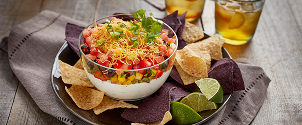 Picture of layered tex mex dip