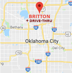 Map of Britton drive-thru pharmacy