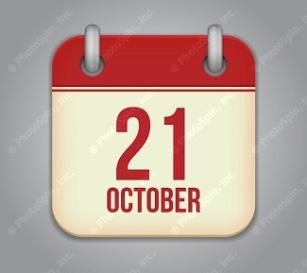21 October calendar