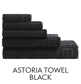 Astoria Towels Black