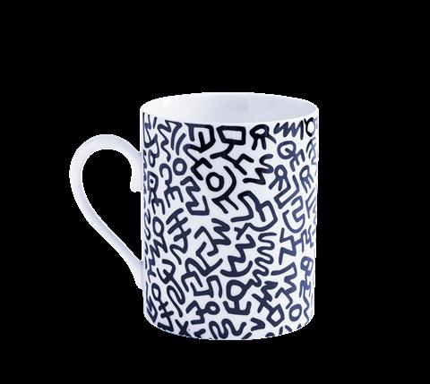 Keith Haring Black Mug