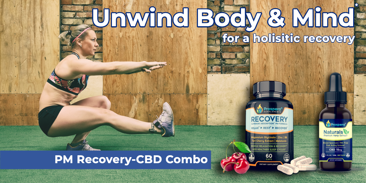 Promote Muscle & Emotional Health with this synergistic Recovery Combo.
