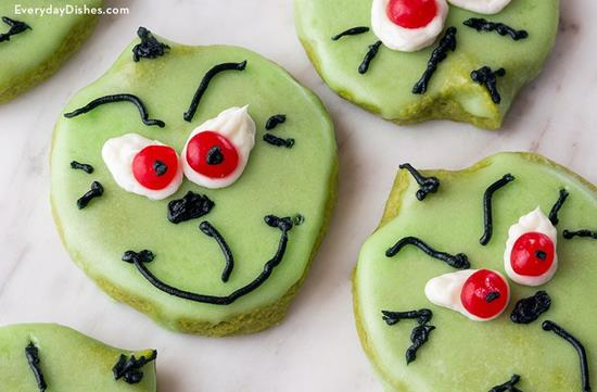 Matcha Grinch Cookies