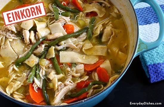Hearty Einkorn Chicken Noodle Soup