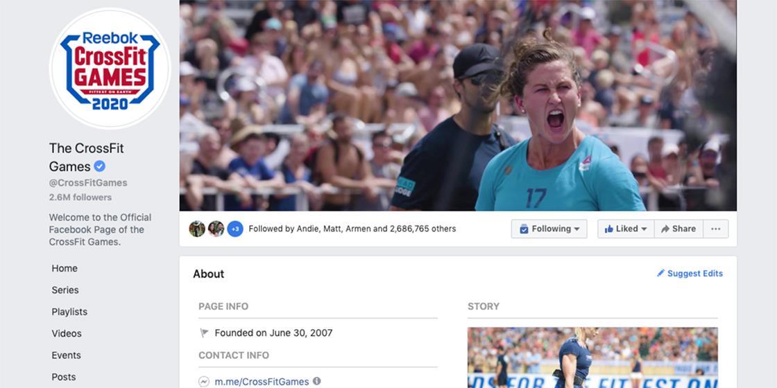 CrossFit Games Rejoins Facebook