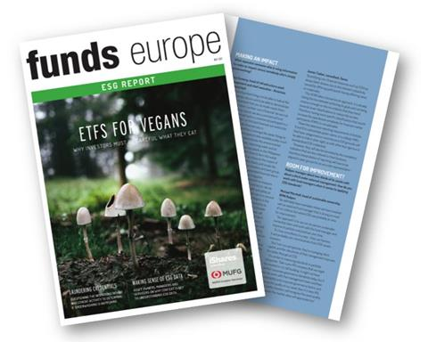Funds Europe ESG article featuring James Tasker
